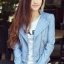 เสื้อแจ็คเก็ต เสื้อหนังแฟชั่น พร้อมส่ง สีฟ้า หนังด้าน มาดเซอร์ คอจีน ดีเทลด้วยปกโฉบเฉี่ยว สุดเท่ห์ thumbnail 3