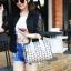 กระเป๋าสะพายข้างผู้หญิงสีขาวเนื้อแมท Fashion Lady thumbnail 8