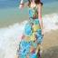 MAXI DRESS ชุดเดรสยาว พร้อมส่ง สีโทนฟ้า ผ้าชีฟอง เนื้อนิ่ม ใส่สบาย พิมพ์ลายดอกไม้สวยมากๆค่ะ มีซับใน รับรองสินค้าจริงเหมือนแบบ 100 % thumbnail 2
