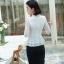เสื้อสูทแฟชั่น เสื้อสูทสำหรับผู้หญิง พร้อมส่ง สีขาว ผ้าคอตตอน 100 % เนื้อดี คุณภาพงานพรีเมี่ยม งานตัดเย็บเนี๊ยบ thumbnail 5