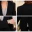 เสื้อสูททำงาน พร้อมส่ง เสื้อสูทสีดำ ตัวยาวคลุมสะโพก แขนยาว ติดกระดุมเม็ดเดียวเก๋ งานสวยเหมือนแบบแป๊ะค่ะ thumbnail 9