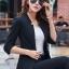 เสื้อสูทแฟชั่น เสื้อสูทสำหรับผู้หญิง พร้อมส่ง สีดำ คอวี แต่งเว้าช่วงคอเสื้อ คัตติ้งสวย งานเนี๊ยบ thumbnail 5