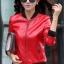 เสื้อแจ็คเก็ต เสื้อหนังแฟชั่น พร้อมส่ง สีแดง หนัง PU คุณภาพงานพรีเมี่ยม งานเหมือนแบบ 100 % ค่ะ แขนยาว จั้มช่วงเอวและแขนเสื้อ thumbnail 2