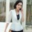 เสื้อสูทแฟชั่น เสื้อสูทสำหรับผู้หญิง พร้อมส่ง สีขาว ผ้าคอตตอน 100 % เนื้อดี คุณภาพงานพรีเมี่ยม งานตัดเย็บเนี๊ยบ thumbnail 1