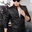 (พร้อมส่ง Size L,XL )แจ็คเก็ตหนังผู้ชาย เสื้อหนังผู้ชาย สีดำ หนัง PU คุณภาพงานพรีเมี่ยม หนังด้านขึ้นเงา มีซับในบุด้วยผ้าขนสัตว์ คอจีน แต่งหัวไหล่เก๋ thumbnail 4