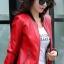 เสื้อแจ็คเก็ต เสื้อหนังแฟชั่น พร้อมส่ง สีแดง หนัง PU คุณภาพงานพรีเมี่ยม งานเหมือนแบบ 100 % ค่ะ แขนยาว จั้มช่วงเอวและแขนเสื้อ thumbnail 5