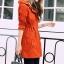 เสื้อกันหนาว พร้อมส่ง สีส้มอิฐ ตัวยาวคลุมสะโพก แบบซิบรูดเก๋ แต่งฮูทสุดเท่ห์ เสื้อตัวนี้หน้าหนาวปีนี้พลาดไม่ได้เลยค่ะ thumbnail 2