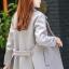 เสื้อโค้ทแฟชั่น Overcoat พร้อมส่ง สีเทา คอปก สุดเท่ห์ แต่งสายคาดเอวด้านหลัง thumbnail 2