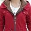เสื้อโค้ท เสื้อกันหนาว พร้อมส่ง สีแดง แขนยาวจั๊มปลายแขน แต่งตัดด้วยสีน้ำตาลสีสวย thumbnail 8