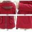 เสื้อโค้ท เสื้อกันหนาว พร้อมส่ง สีแดง แขนยาวจั๊มปลายแขน แต่งตัดด้วยสีน้ำตาลสีสวย thumbnail 10