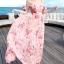 ชุดเดรสยาว MAXIDRESS พร้อมส่ง สีชมพู ลายดอกไม้น่ารัก ออกแนวหวานๆ เนื้อผ้าชีฟอง ใส่สบาย โชว์หัวไหล่ผูกโบว์ เซ็กซี่ มากๆค่ะ thumbnail 2