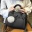 กระเป๋าถือ Blooming life (black) แถมฟรี พู่ห้อยกระเป๋า!! thumbnail 1