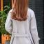 เสื้อโค้ทแฟชั่น Overcoat พร้อมส่ง สีเทา คอปก สุดเท่ห์ แต่งสายคาดเอวด้านหลัง thumbnail 4