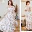 MAXI DRESS ชุดเดรสยาว พร้อมส่ง สีขาว ลายดอกกุหลาบหวาน น่ารักมากๆค่ะ เนื้อผ้าชีฟอง อย่างดี thumbnail 4