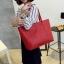 กระเป๋าสะพายข้างใบใหญ่ Leather woman (Red) thumbnail 1