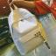 กระเป๋าเป้ LB001 เป้ใบใหญ่ ใส่หนังสือได้ White thumbnail 7