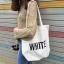 กระเป๋าผ้า LD004 White ฮิต!! thumbnail 14