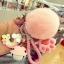 พวงกุญแจ ขนฟู รุ่น Kiss 01 สีชมพู thumbnail 1