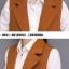 เสื้อกั๊กสูทแฟชั่น เสื้อกั๊กแฟชั่น เสื้อส้มอิฐ เสื้อสูทแขนกุด พร้อมส่ง สีส้มอิฐ เนื้อผ้า Polyester งานสวย คุณภาพดี มีซับใน ใส่สบาย thumbnail 7