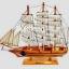 เรือสำเภาไม้จำลองตั้งโชว ขนาด 14 นิ้ว thumbnail 1