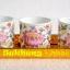 สุขเฮง ชุดถ้วยน้ำชาเซรามิคลายดอกบัว สำหรับไหว้ 3 ใบ thumbnail 1