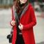 เสื้อกันหนาวไหมพรม พร้อมส่ง สีแดง ตัวยาว ลายลูกโซ่เก๋ๆ มีฮูท ด้านในเป็นขนสัตว์สังเคราะห์ เนื้อนิ่ม น่ารักๆ thumbnail 1