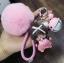 พวงกุญแจ ขนฟู รุ่น Baby doll สีชมพู thumbnail 1