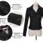 เสื้อแจ็คเก็ต เสื้อหนังแฟชั่น พร้อมส่ง สีดำ หนัง PU คุณภาพงานพรีเมี่ยม คอปกโฉบเฉี่ยว หนังนิ่ม ใส่สบาย thumbnail 8