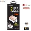 Adapter AD206 Dual 2 USB (2.4A) RoseGold