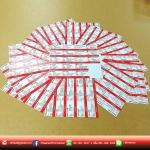 ทำนามบัตร โดยทำจากสติ๊เกอร์แบบเคลียบด้าน หรือเงา สวยคนละแบบ