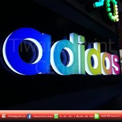 ป้าย adidas งานLED Neon Flex งานหลากสีสัน งานเรียบสวยดูดี มีความเท่ๆ ลงตัวสุดๆ