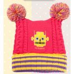 [Pink] หมวกไหมพรมมีพู่ G.Robert