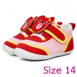 [Size14] [แดง] รองเท้าเด็กหน้าหมีสองสไตล์[พื้นยาง]