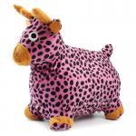[กวางชมพู] ม้าเด้งดึ๋งหุ้มผ้าขนสัตว์