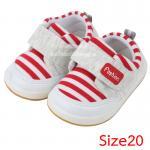 [Size20] [แดง] รองเท้าเด็กทรงสปอร์ต Fashion [พื้นยาง]