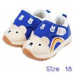 [ฟ้า] [Size18] รองเท้าเด็กหน้าหมีทรงสปอร์ต Hello mifey