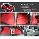 ยางปูพื้นรถยนต์ Nissan Pulsar ลายธนูสีแดง