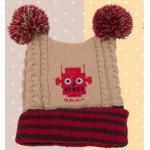 [Beige] หมวกไหมพรมมีพู่ G.Robert