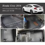 พรม 6D Honda Civic2016 สีดำด้ายฟ้า