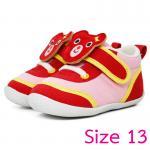 [Size13] [แดง] รองเท้าเด็กหน้าหมีสองสไตล์[พื้นยาง]