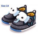[น้ำเงิน14] [รุ่นบุเนื้อนิ่ม ลายช้าง] รองเท้าเด็ก XTmiffy
