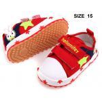 [แดง15] [รุ่นสปอร์ตลายดาว] รองเท้าเด็ก Hello mifey