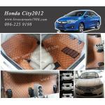 พรม6D Honda city2012 สีน้ำตาลอ่อน