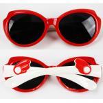 [ติดปีกแดงขาว] แว่นกันแดดซิลิโคนสำหรับเด็ก