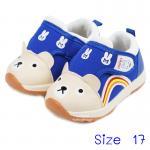 [ฟ้า] [Size17] รองเท้าเด็กหน้าหมีทรงสปอร์ต Hello mifey
