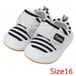 [Size16] [ดำ] รองเท้าเด็กทรงสปอร์ต Fashion [พื้นยาง]