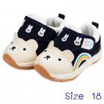 [น้ำเงิน] [Size18] รองเท้าเด็กหน้าหมีทรงสปอร์ต Hello mifey