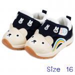 [น้ำเงิน] [Size16] รองเท้าเด็กหน้าหมีทรงสปอร์ต Hello mifey