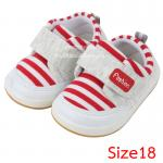 [Size18] [แดง] รองเท้าเด็กทรงสปอร์ต Fashion [พื้นยาง]