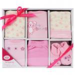 [สีชมพู] กล่องของขวัญเซต 6 ชิ้น Luvable Friends
